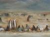 Woestijntafereel in Jordanië