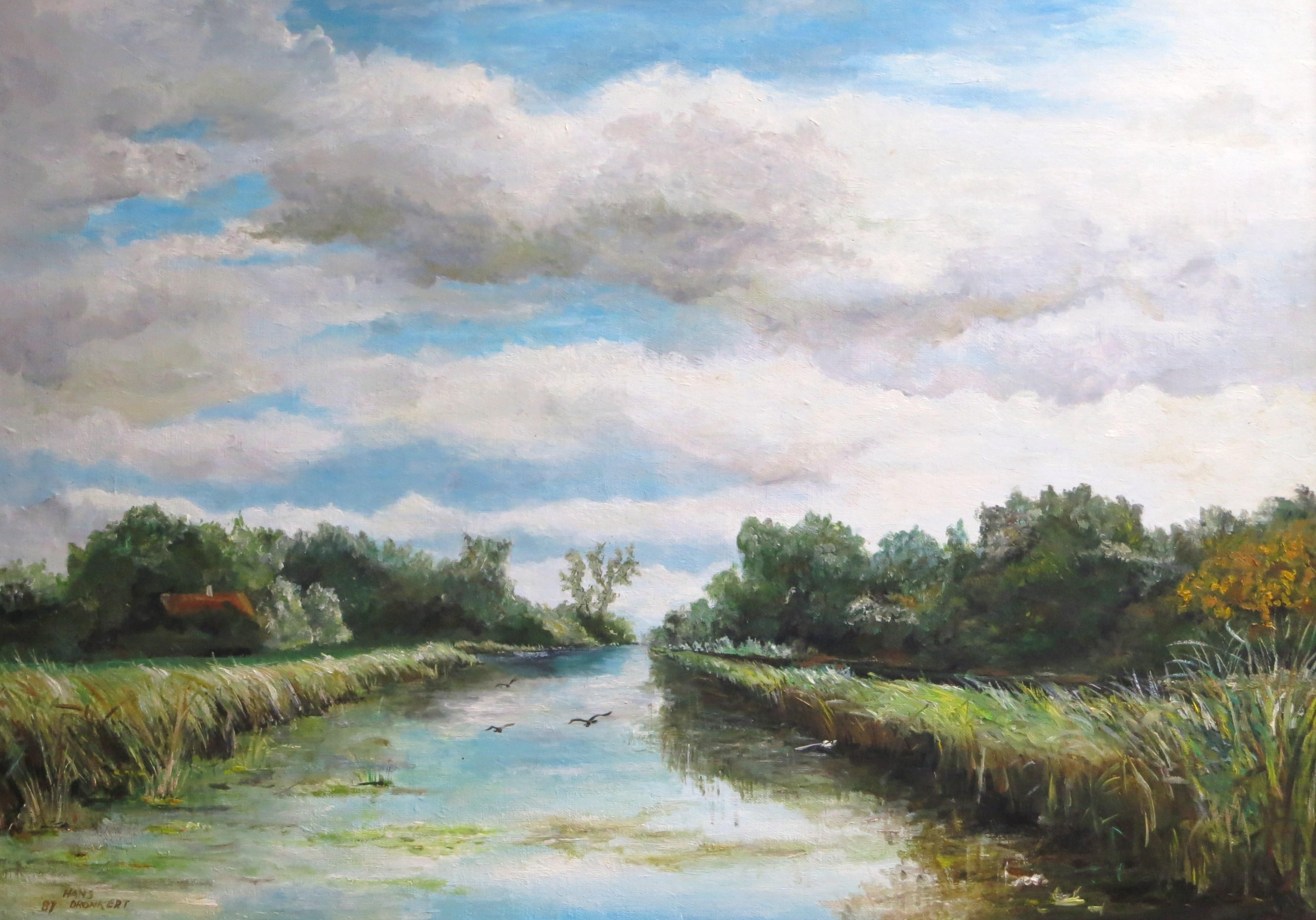 Gezicht over poldervaart
